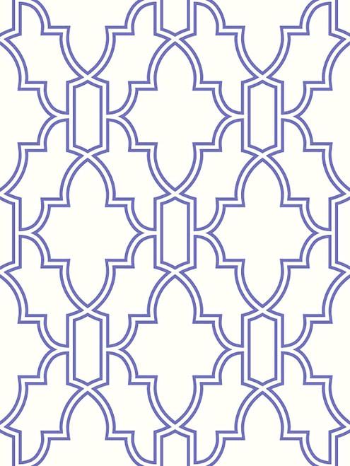 Tile Trellis Peel & Stick GW1005 Wallpaper Blue 20.5 in. x 18 ft. = 30.75 sq.ft