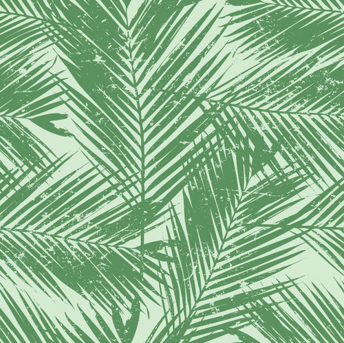 """GP1900361 Distressed Green Palms Premium Peel and Stick Wallpaper Panel 6 Ft High x 26"""" Wide"""
