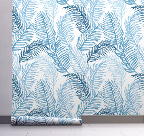 GW12061 Hand Drawn Palms Wallpaper, Roll Size: 20.5 in. W x 18 ft. L.