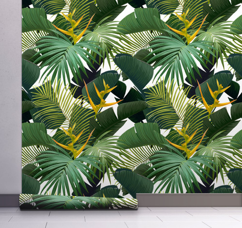 GW12071 Dark Green Palms Wallpaper