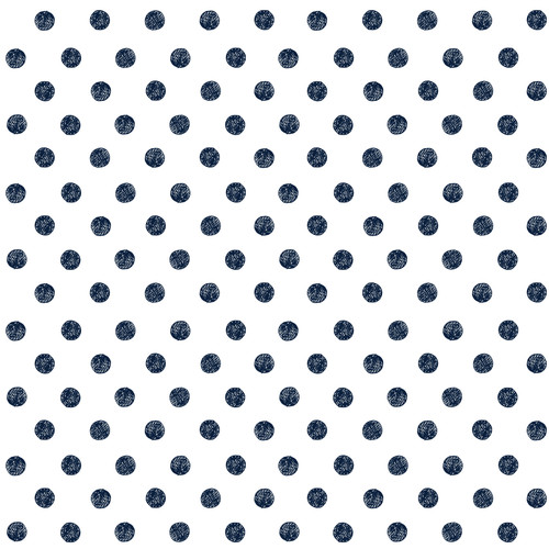 GN0041 Hand Drawn Polka Dots Fine Wallpaper Roll size 26 inch Wide x 27 ft. Long, Navy Blue