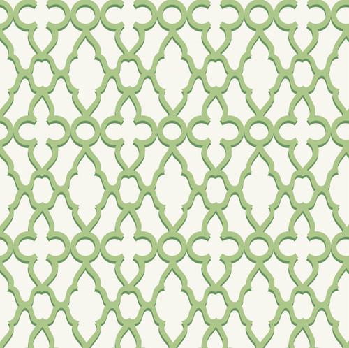 GN0051 Trellis Pattern Fine Wallpaper Roll size 26 inch Wide x 27 ft. Long, Green