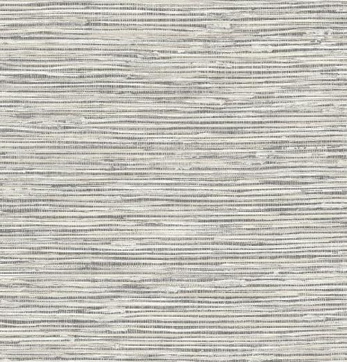 Grey Faux Grasscloth Peel & Stick Wallpaper GW2005 Grace & Gardenia