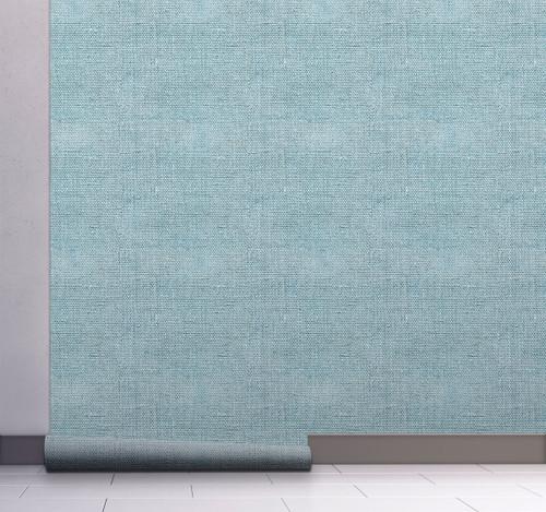 GW6013 Grace & Gardenia Faux Canvas Texture Peel and Stick Wallpaper Roll 20.5 inch Wide x 18 ft. Long, Blue
