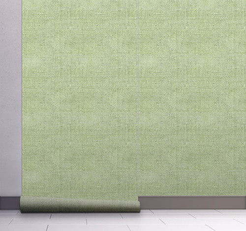 GW6012 Grace & Gardenia Faux Canvas Texture Peel and Stick Wallpaper Roll 20.5 inch Wide x 18 ft. Long, Green