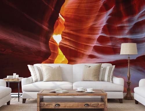 GM0010 Grace & Gardenia Antelope Canyon Premium  Matte Paper  Peel and Stick Mural 13ft wide x 10ft height Orange Yellow
