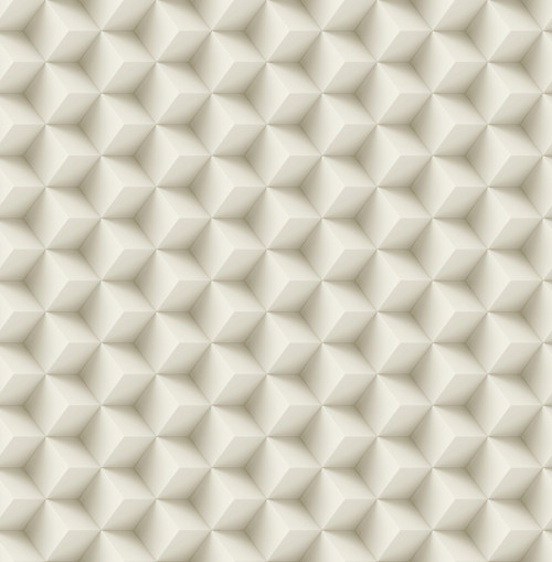 3D Cubes Wallpaper in Cream DS61807 by Wallquest