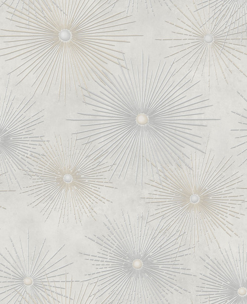 Seabrook wallpaper in Gray, Metallic Silver NE51008