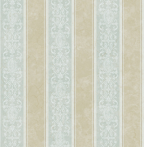 Vintage Cameo Stripe Wallpaper in Classic Blue VC91002 from Wallquest