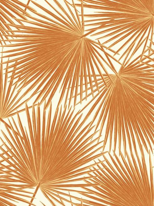 Seabrook Wallpaper in Orange/Rust, White TA20206
