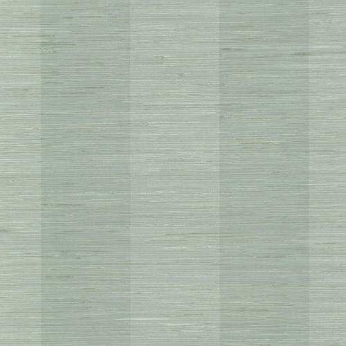 Chesapeake by Brewster 3113-256011 Seaside Living Oakland Aqua Grasscloth Stripe Wallpaper