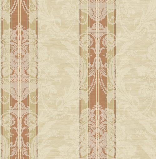 Antique Striped Bouquet Wallpaper in Sienna DV50801 from Wallquest
