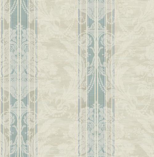 Antique Bouquet Wallpaper in Antique Blue DV50802 from Wallquest