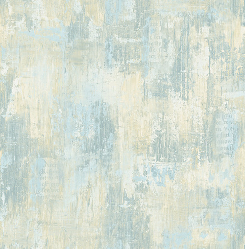 Aged Faux Wallpaper in Soft Blue VF30701 from Wallquest