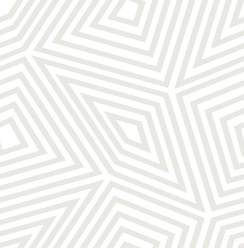 A-Street Prints by Brewster 2785-24828 Platinum Kaleidoscope Wallpaper Metallic