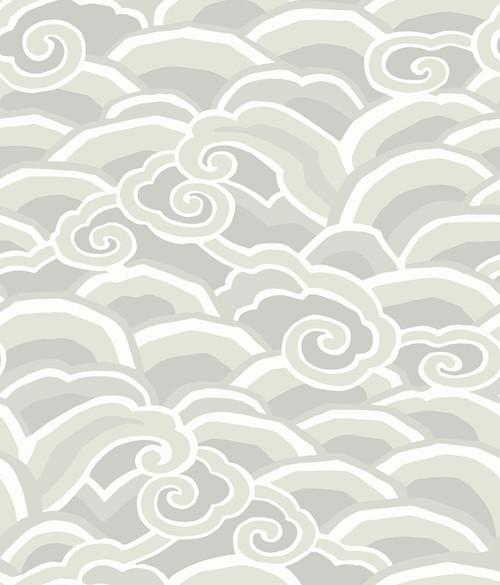 A-Street Prints by Brewster 2785-24842 Platinum Decowave Wallpaper Grey