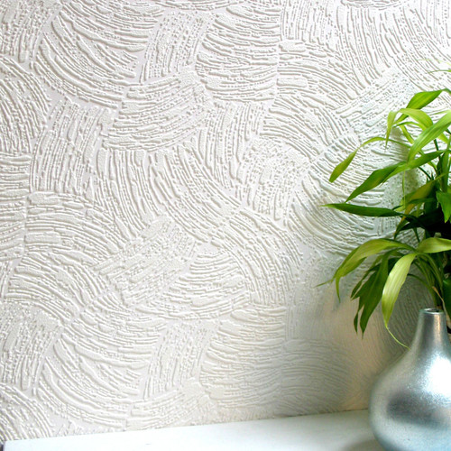 Brewster 437-5019 Surf Paintable Textured Vinyl Wallpaper white