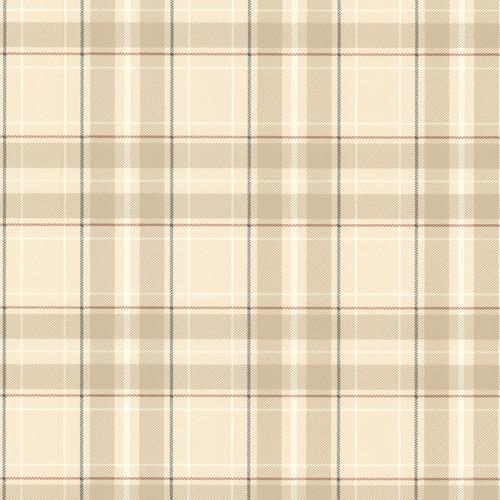 Beacon House by Brewster 2604-21223 Oxford Caledonia Khaki Plaid Wallpaper
