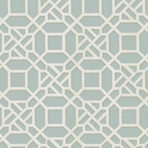 Chesapeake by Brewster 3112-002711 Sage Hill Adlington Turquoise Geometric Wallpaper