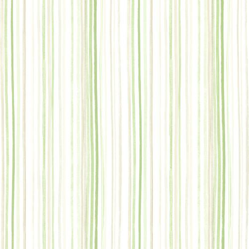Beacon House by Brewster 2605-21632 Rosemore Estelle Green Watercolor Stripe Wallpaper