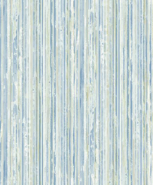 Brewster 2812-BLW20404 Advantage Surfaces Savanna Blue Stripe Wallpaper Blue