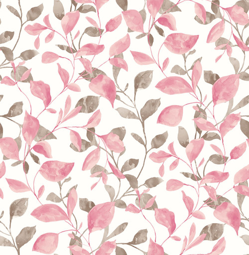 A-Street Prints by Brewster 2656-004038 Catalina Trail Pink Vine Wallpaper