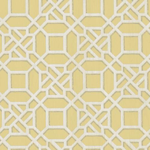 Chesapeake by Brewster 3112-002710 Sage Hill Adlington Yellow Geometric Wallpaper