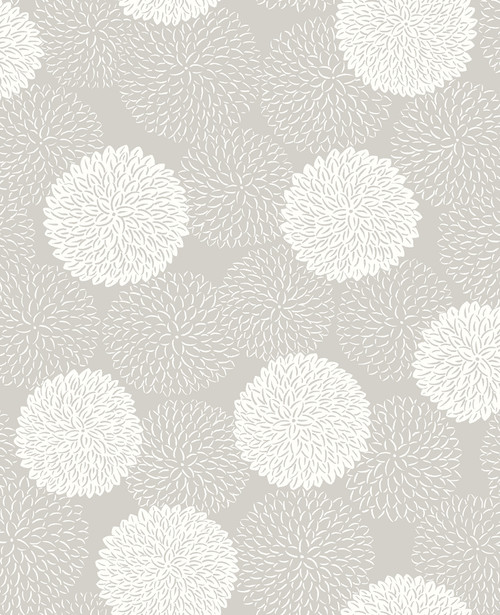 A-Street Prints by Brewster 2764-24328 Mistral Blithe Taupe Floral Wallpaper