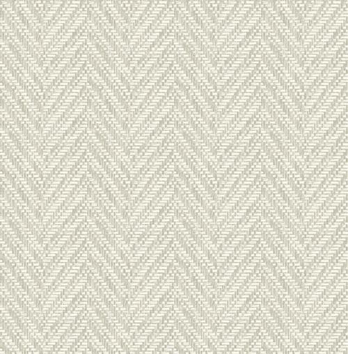 A-Street Prints by Brewster 2785-24817 Linen Ziggity Wallpaper Neutral