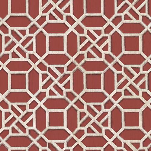 Chesapeake by Brewster 3112-002712 Sage Hill Adlington Maroon Geometric Wallpaper