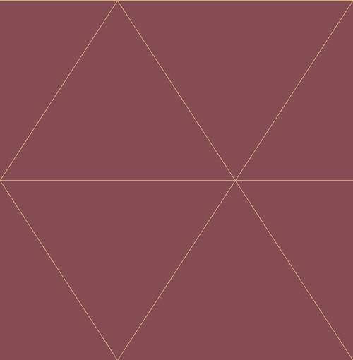 A−Street Prints by Brewster 2763-24226 Moonlight Twilight Red Geometric Wallpaper