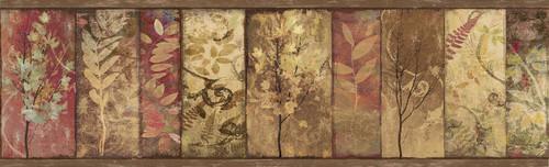 Chesapeake by Brewster 3118-01552B Birch & Sparrow Foliage Rust Botanical Border