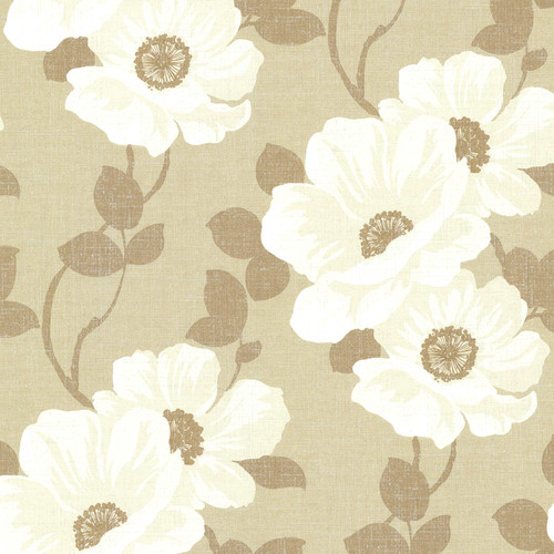 Beacon House by Brewster 2614-21052 Leala Sand Modern Floral Wallpaper