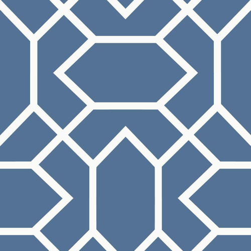 RoomMates RMK9066WP Modern Geometric Blue Peel & Stick Wallpaper Blue