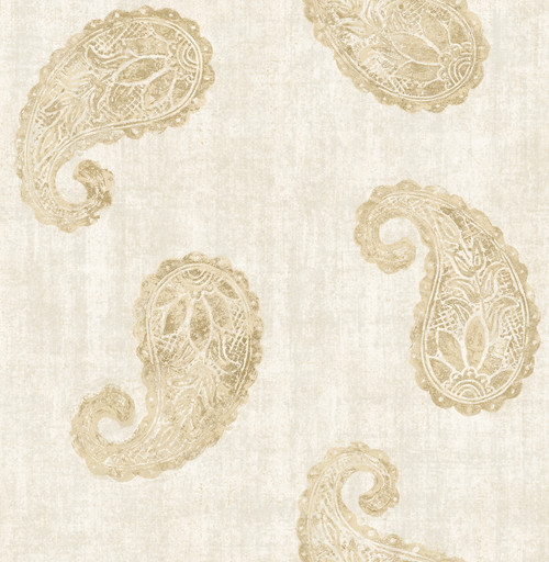 Brewster 2671-22417 Azmaara Kashmir Cream Paisley Wallpaper
