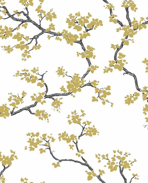 York Wallcoverings FB1404 Florence Broadhurst Branches Wallpaper Gold