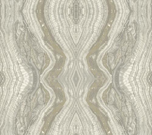 York Wallcoverings OG0558 Antonina Vella Elegant Earth Kaleidoscope Wallpaper Gray