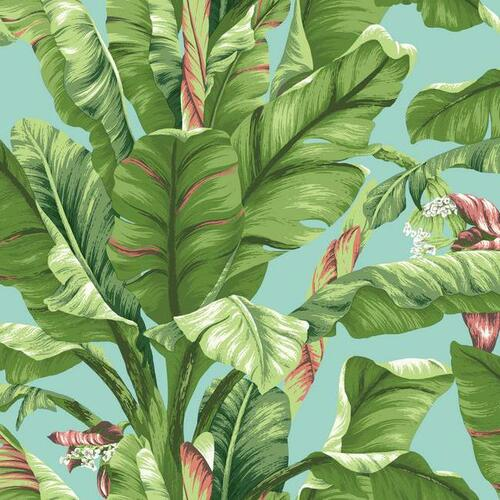 York Wallcoverings AT7070 Tropics Banana Leaf Wallpaper