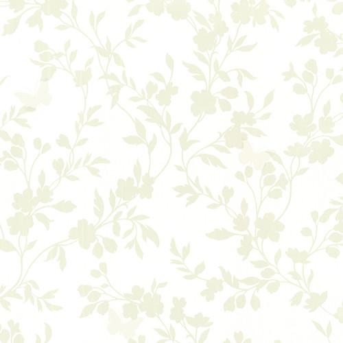 Brewster 2532-20463 Bath Bath Bath IV Layla Light Green Floral Trail Silhouette Wallpaper