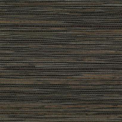 York Wallcoverings VG4415 Grasscloth by York II Inked Grass Wallpaper  Black