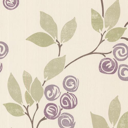 Brewster 2532-20410 Bath Bath Bath IV Geisha Violet Floral Trail Wallpaper
