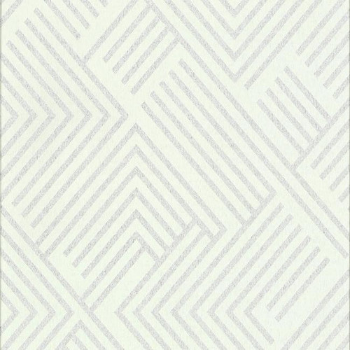 York Wallcoverings CE3943 Perplexing Wallpaper - White/Silver White/Off Whites