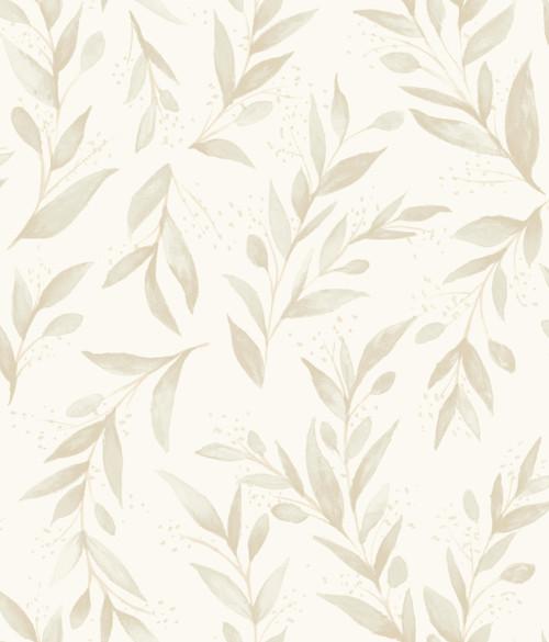 York Wallcoverings ME1538 Magnolia Home Vol. II Olive Branch  Beige