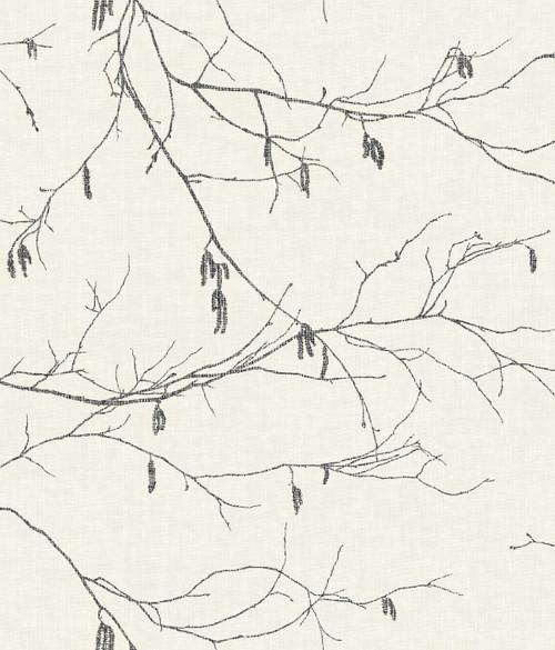 York Wallcoverings NR1524 Norlander Winter Branches Wallpaper White