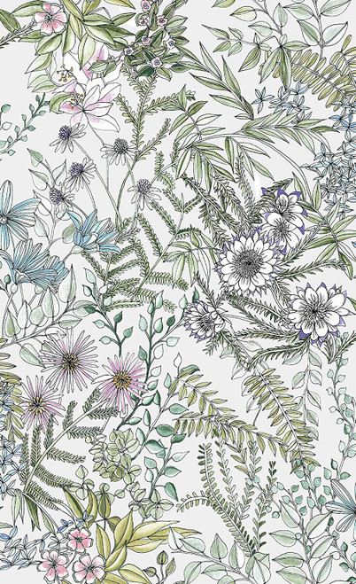 A-Street Prints 2821-12901 Full Bloom Off-White Floral Wallpaper