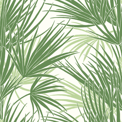 York Wallcoverings SS2540 Silhouettes Palmetto Wallpaper Green
