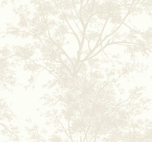 York Wallcoverings SW7510 Ashford House Tree Silhouette Sidewall Wallpaper - Pearl