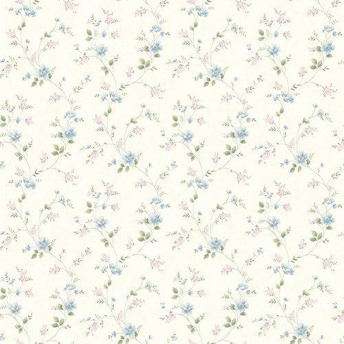 Chesapeake by Brewster HTM21563 Outdoors Nancy White Spring Bloom Trail Wallpaper