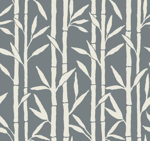 York Wallcoverings OG0604 Antonina Vella Elegant Earth Bamboo Grove Wallpaper Blue