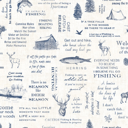 Chesapeake by Brewster 3118-01474 Birch & Sparrow North Hills Navy Camping Quotes Wallpaper